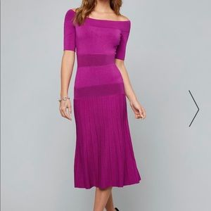 Bebe Tatiana Fushia tea length Dress